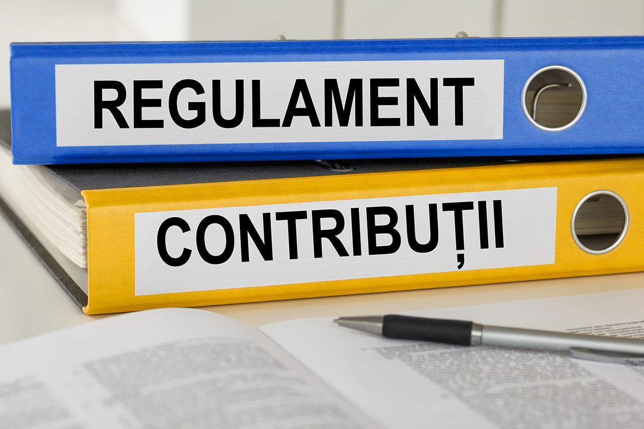 Regulamentul de regularizarea anuală a contribuțiilor la fondurile C.A.A - forma finală
